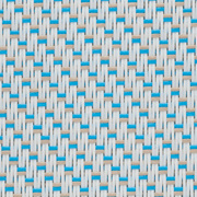Tissus Transparent EXTERNAL SCREEN CLASSIC Satiné 5500 M02 Blanc Turquoise Sable